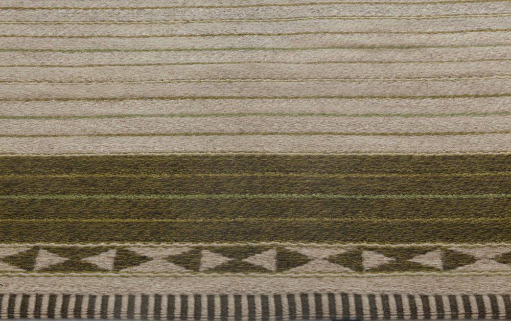 Vintage Swedish Flat Weave Double Sided Rug by Ingrid Dessau BB6414