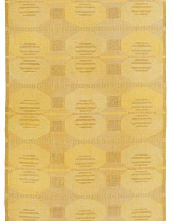 Vintage Swedish Flat Weave Rug Signed KH BB5389
