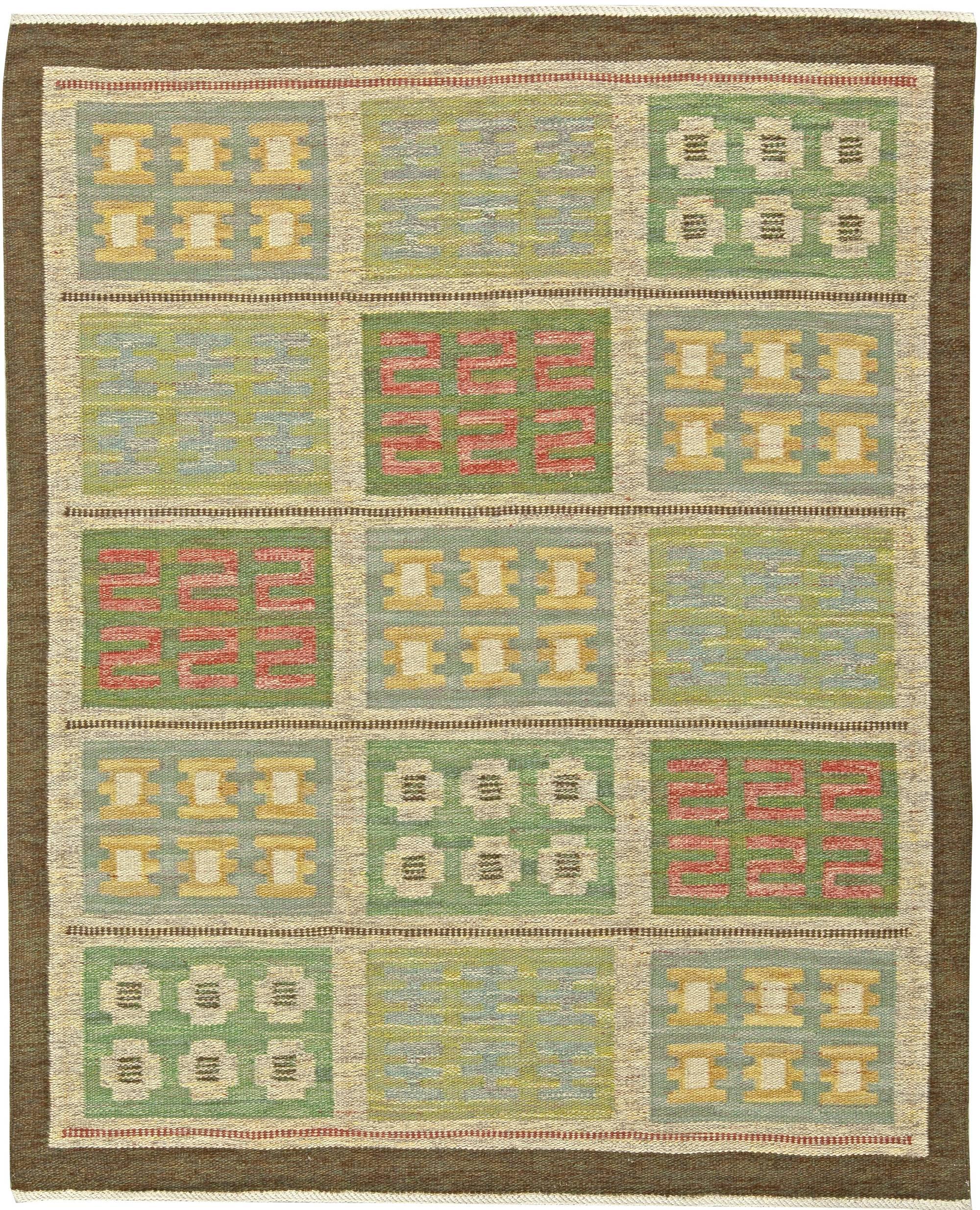 Vintage Swedish Flat Weave Rug by Svensk Hemslojd BB5820