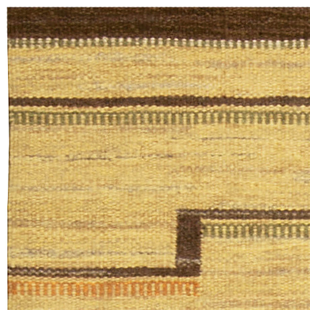 Vintage Swedish Flat Weave Rug BB4941