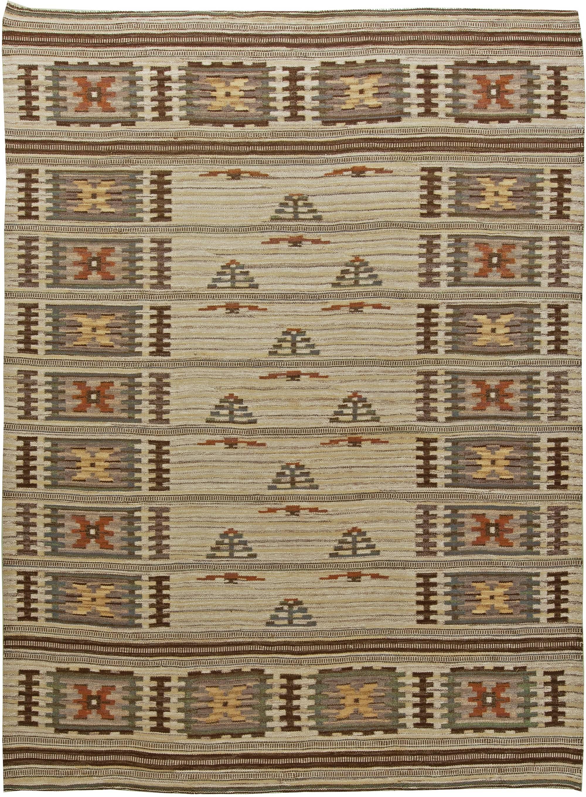 Vintage Swedish Flat Weave Rug BB6061