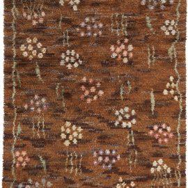 Hand-knotted Mid-Century Scandinavian Rya Rug by Helge Hamnert Hogsby BB5395