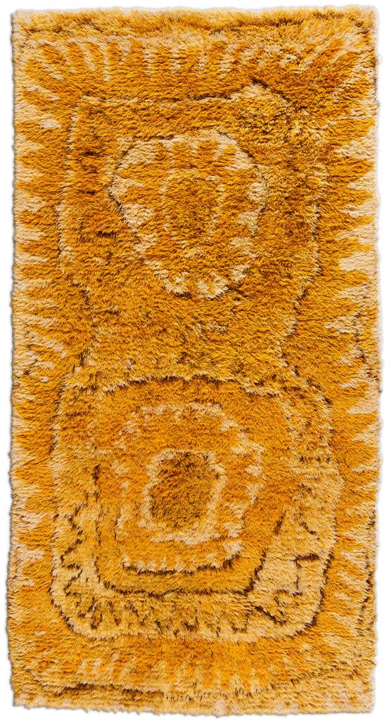 Vintage Swedish RYA Carpet by Marta Maas-Fjetterstrom BB4725
