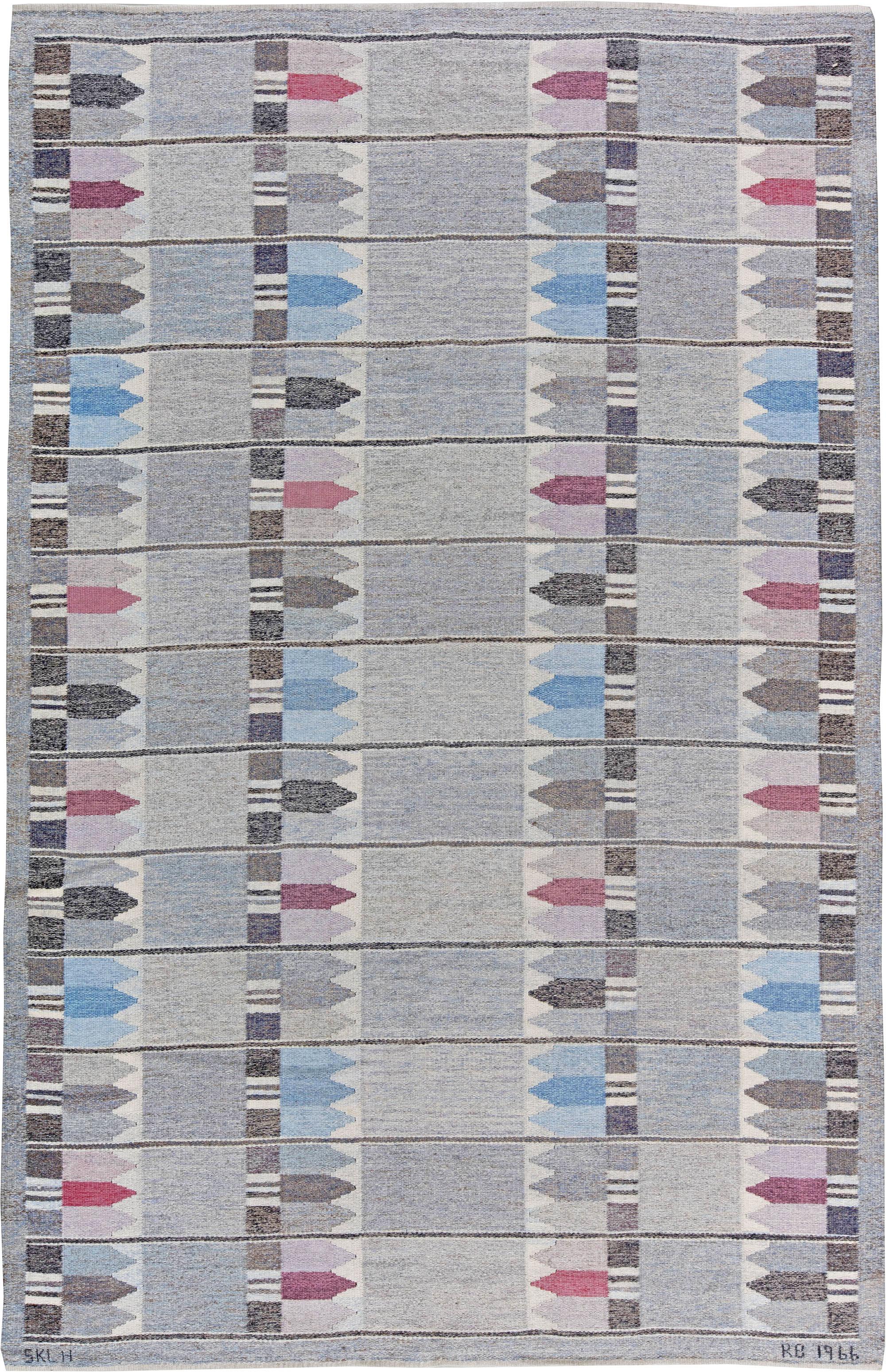Elegant Skandinavische Teppiche Referenz Von Vintage-schwedische Teppich Von Kertin Butler Bb5097