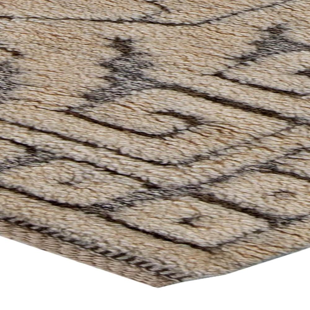 Swedish Gray Handwoven Wool Half-Pile Rug by Märta Måås-Fjetterström BB5678