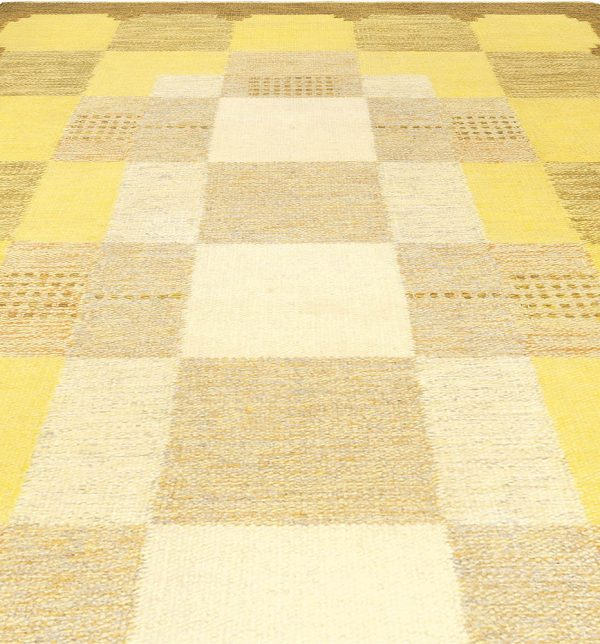 Vintage Swedish Rug by Ingegerd Silow BB4987