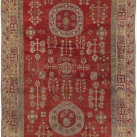 Midcentury Red Samarkand / Khotan Rug BB6420