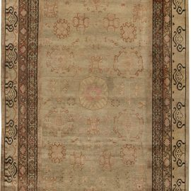 Samarkand Washed-Out Beige, Rosewood, Pale Peach & Ebony Brown Rug BB6454