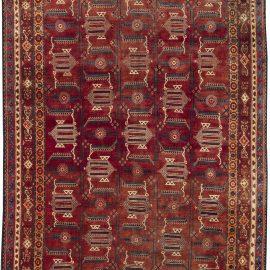 Samarkand Red Handmade Wool Rug BB6400