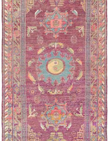 Weinlese-Silk Samarkand (Khotan) Teppich BB4367