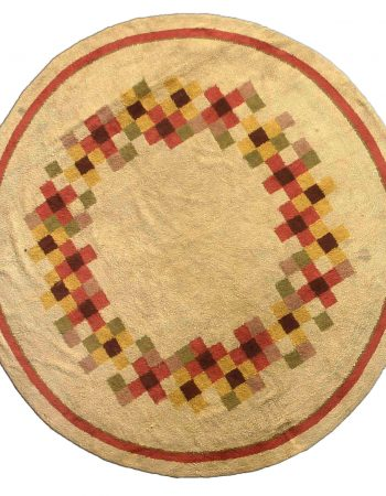 Traditional European, Jute Braided Circular Soft Brown Rug N10886