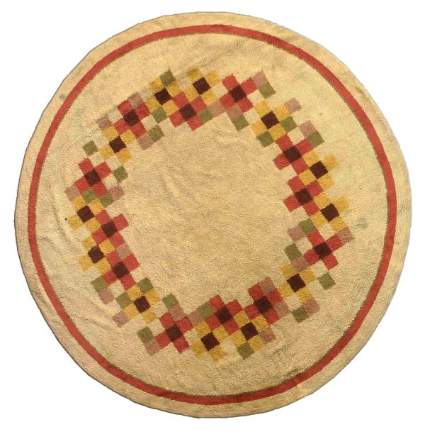 Alfombra circular vintage deco BB2488