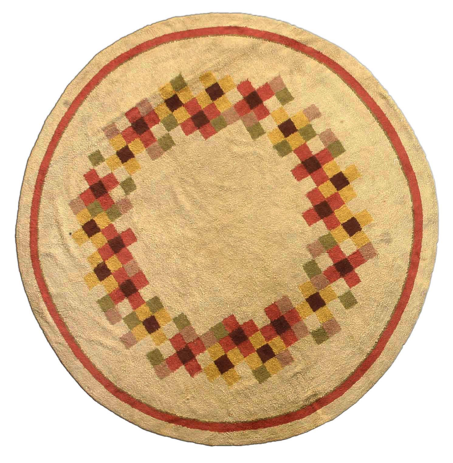 Vintage Deco Circular Rug BB2488