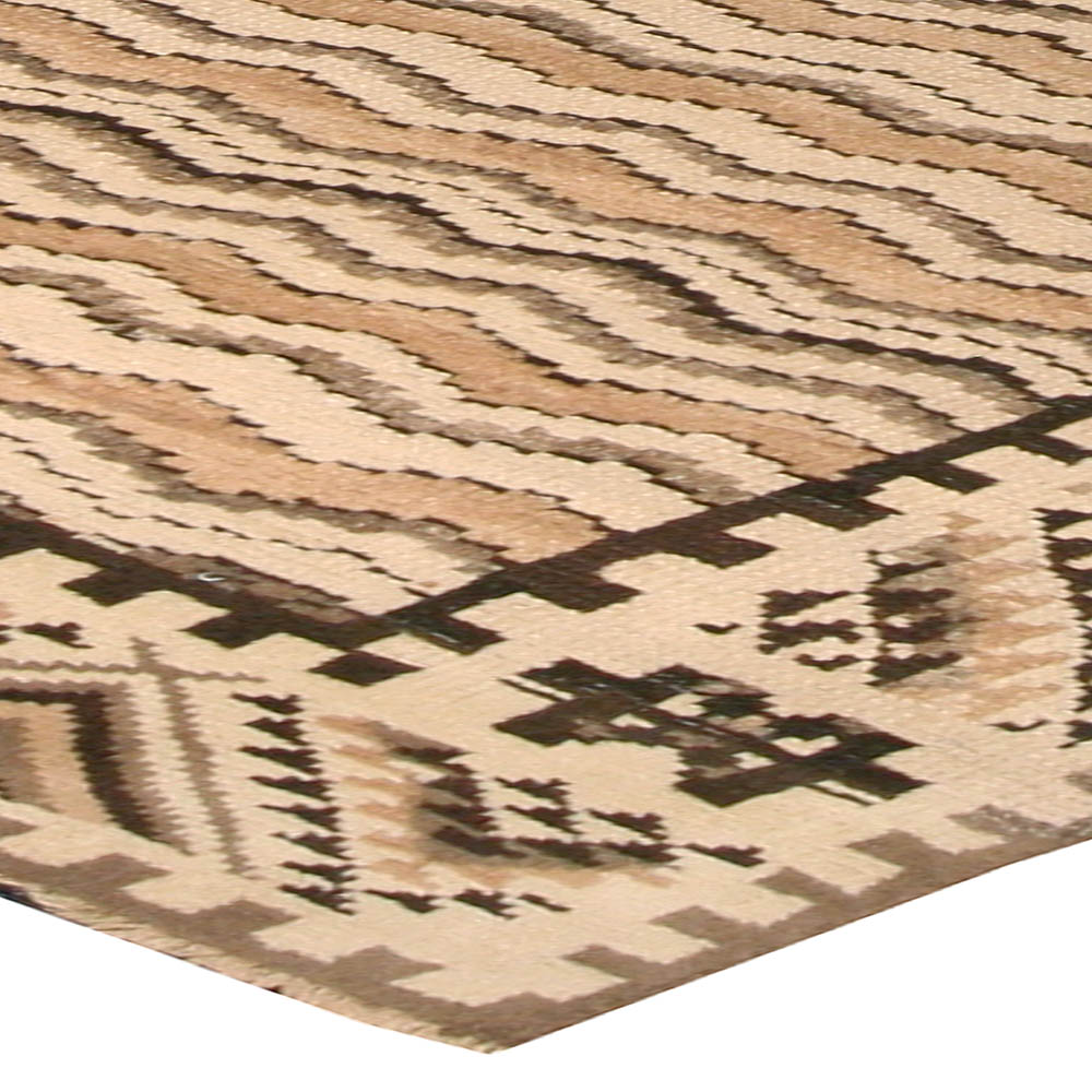 Vintage Caramel, Beige & Brown Moroccan Hand Knotted Wool Rug BB4594