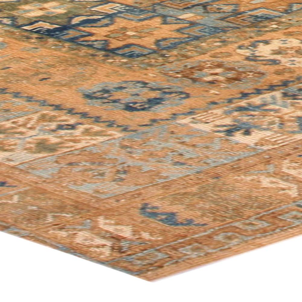 Vintage Moroccan Orange & Blue Carpet BB4036