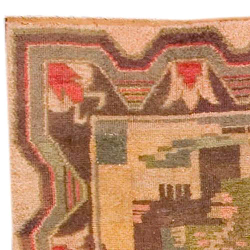 Vintage Swedish Carpet BB3612