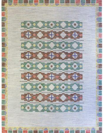 Vintage-schwedische Flachgewebe Teppich BB5277