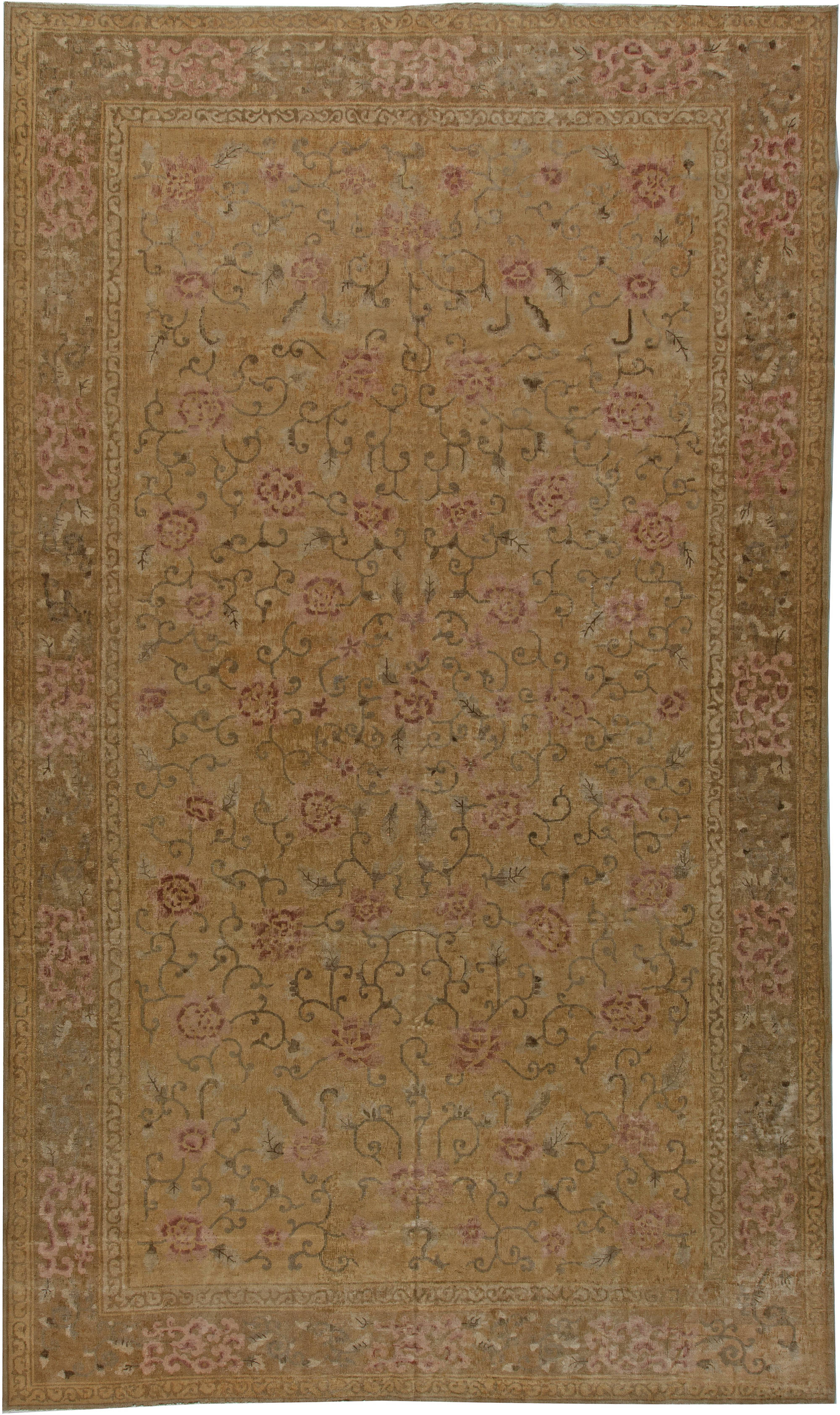 Vintage Chinese Deco Carpet BB5536