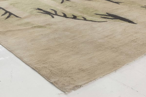 Vintage French Deco Rug BB6437