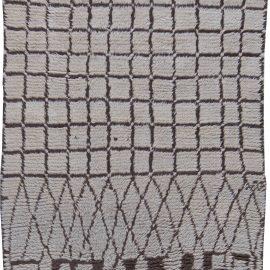 Vintage Mid-Century Moroccan Wool Rug with Tribal Geometric Design BB6201