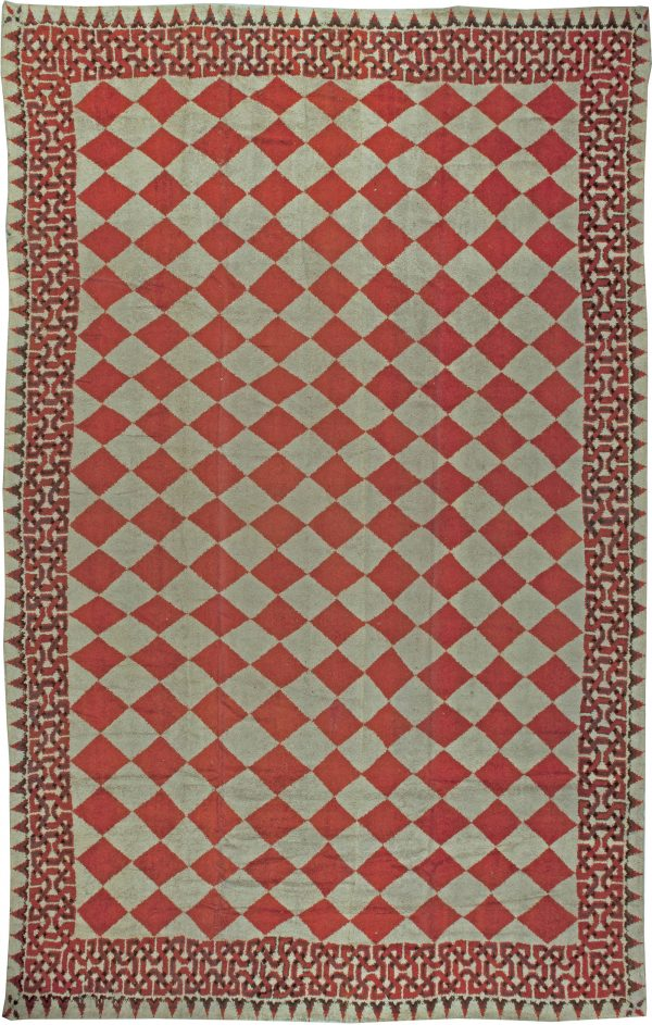 Oversized Vintage American Rag Rug BB5593