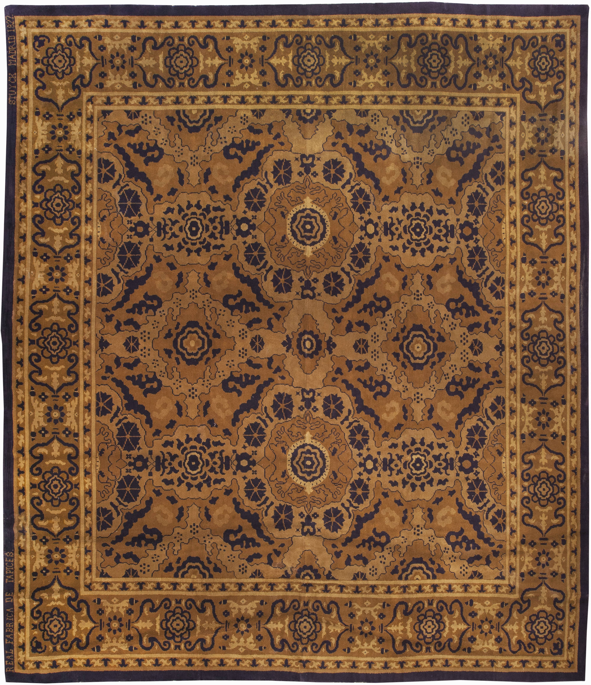 Vintage Spanish Rug Bb0915 By Dlb