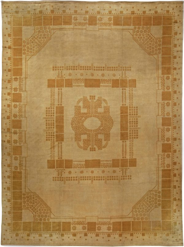 Vintage Viennese Secessionist rug BB5056