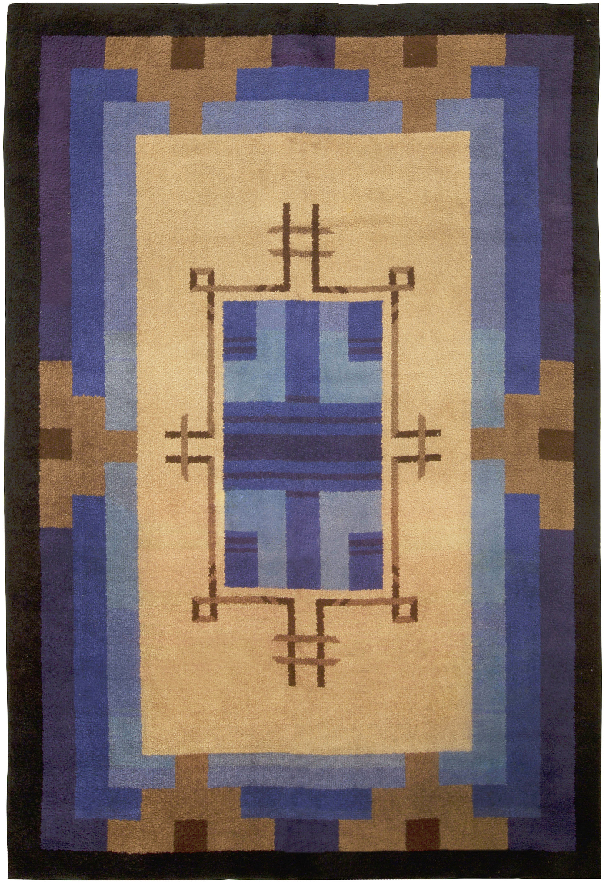 Vintage French Deco Rug BB5010