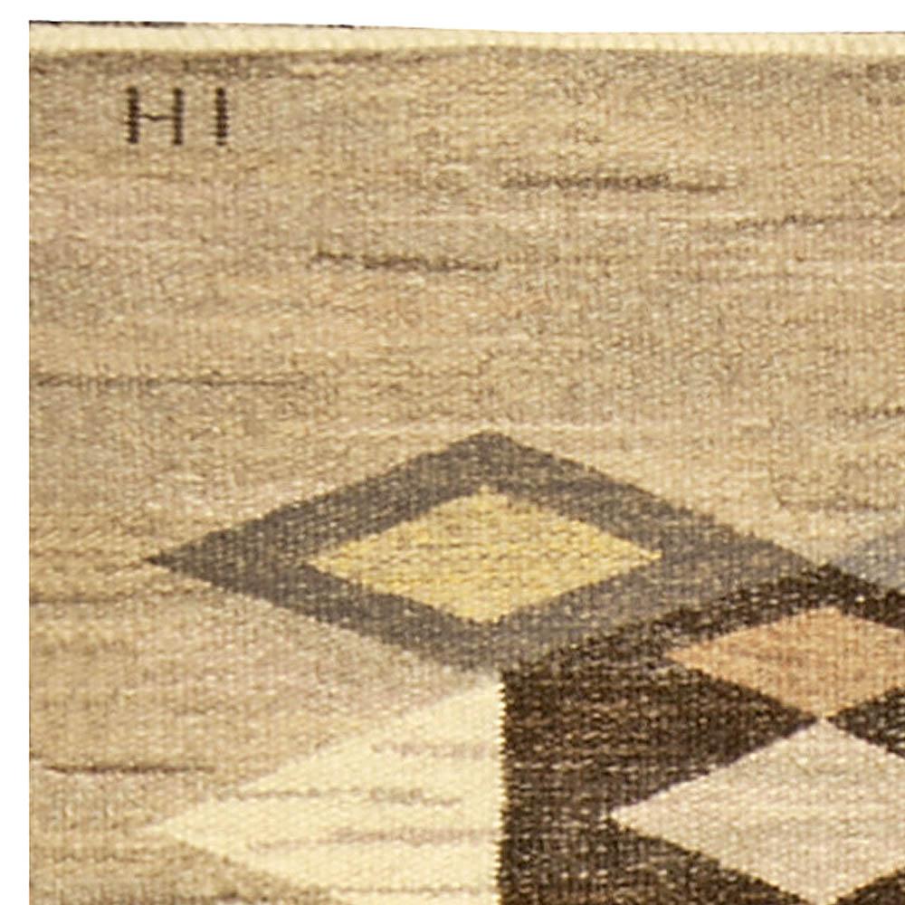 Vintage Swedish Flat woven Rug (Sverige matta) BB4809