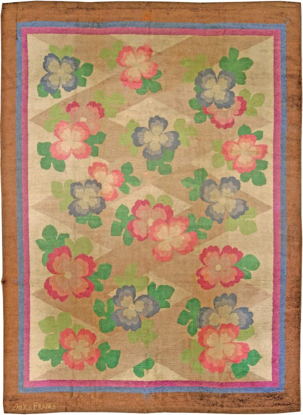 Vintage French Art Deco Rug BB4340