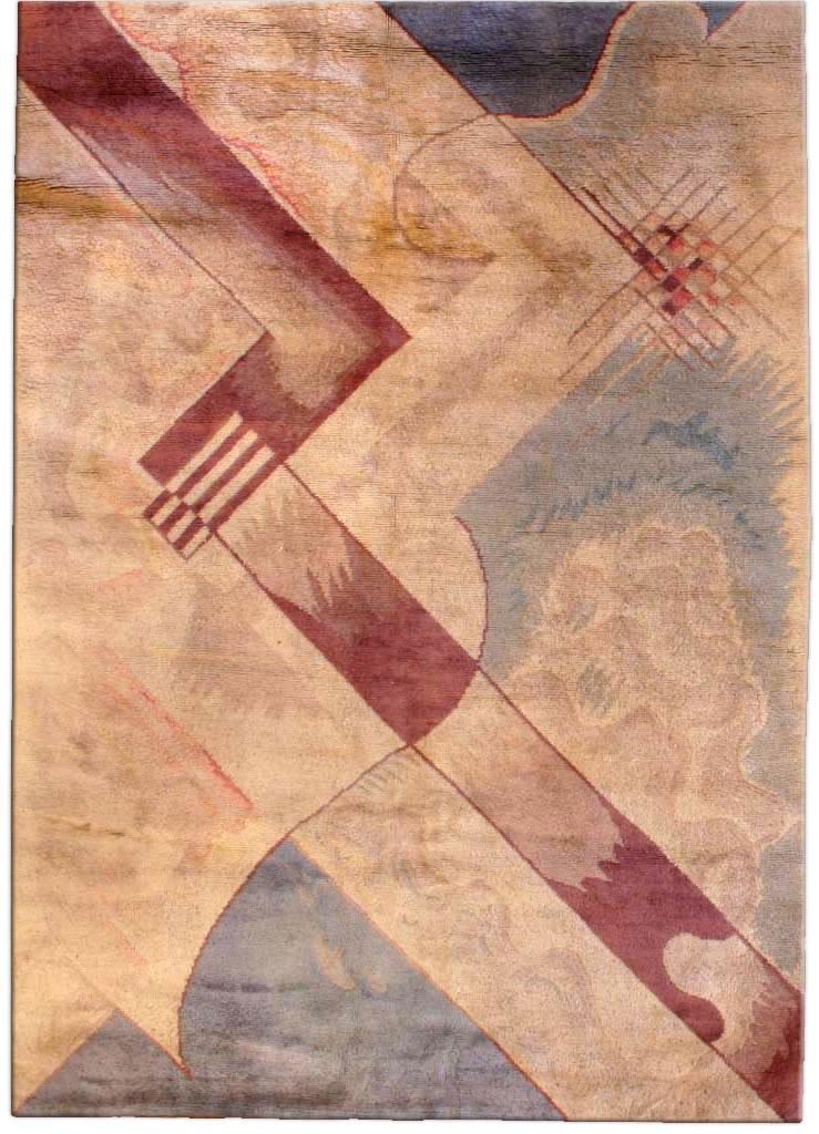 Vintage French Deco Carpet BB3281