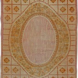 Vintage French Art Deco Handwoven Wool Carpet BB5655