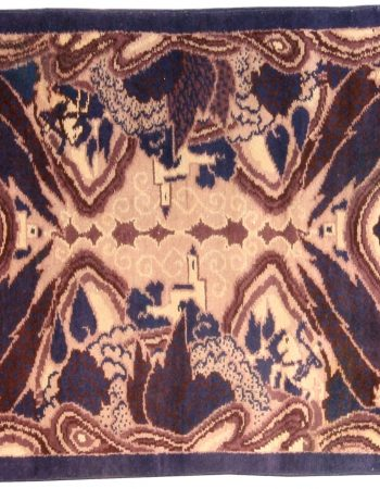 Vintage French Deco Rug BB4573