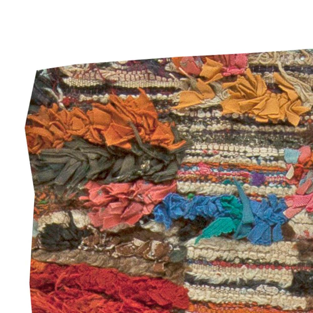 Colorful Vintage Tribal Handmade Moroccan Rug BB5903