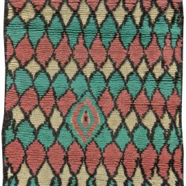 Colorful Vintage Tribal Hand-woven Moroccan Rug BB5867