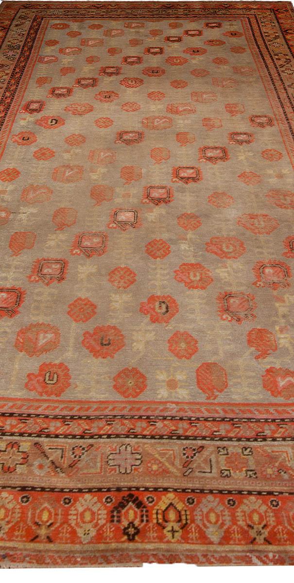 Vintage Samarkand Khotan Handwoven Wool Rug BB4873