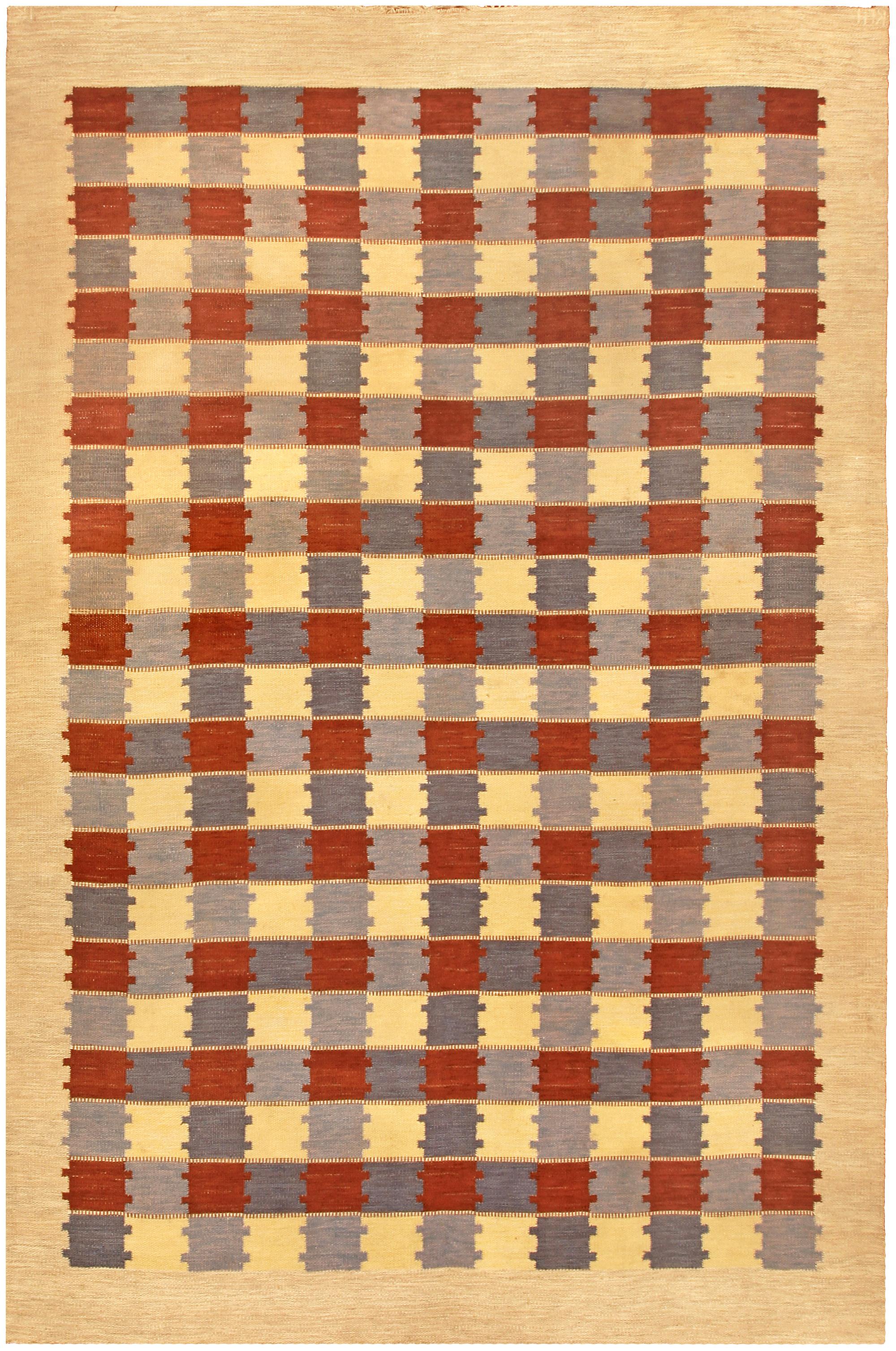 Vintage Swedish Flat Weave Rug BB4852