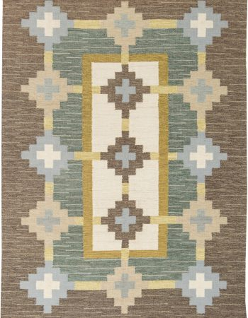 Swedish Flat Weave Rug by (GS) BB6300