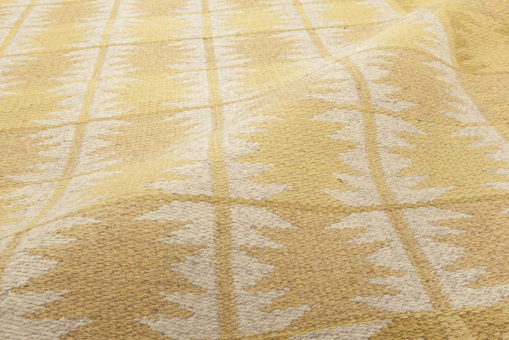 Mid-century Swedish Yellow Flat-Weave Reversible by Ingrid Dessau BB6309