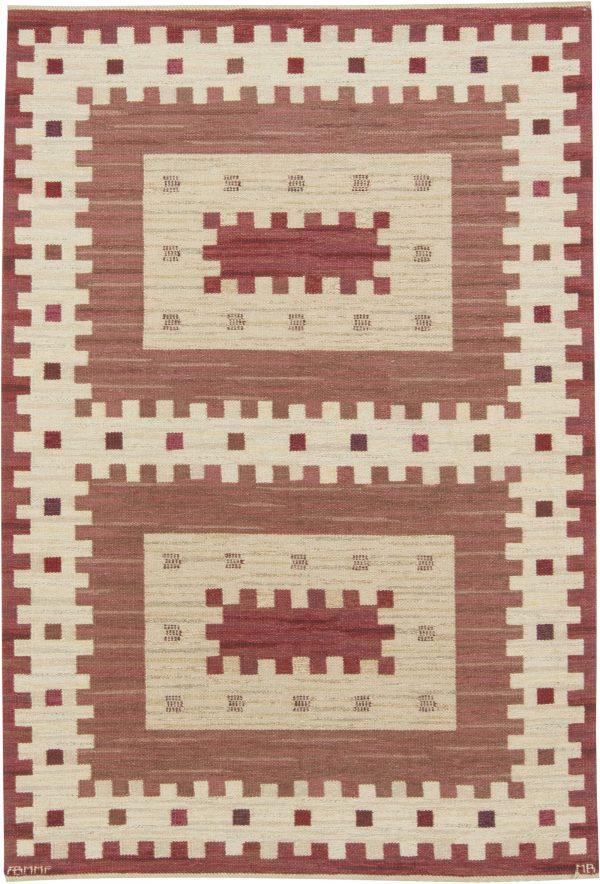 Vintage Rostaggen Swedish Flat Weave Rug by  Marianne Richter BB6425