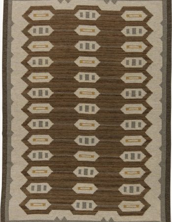 Vintage Swedish Flat Weave Rug BB6281