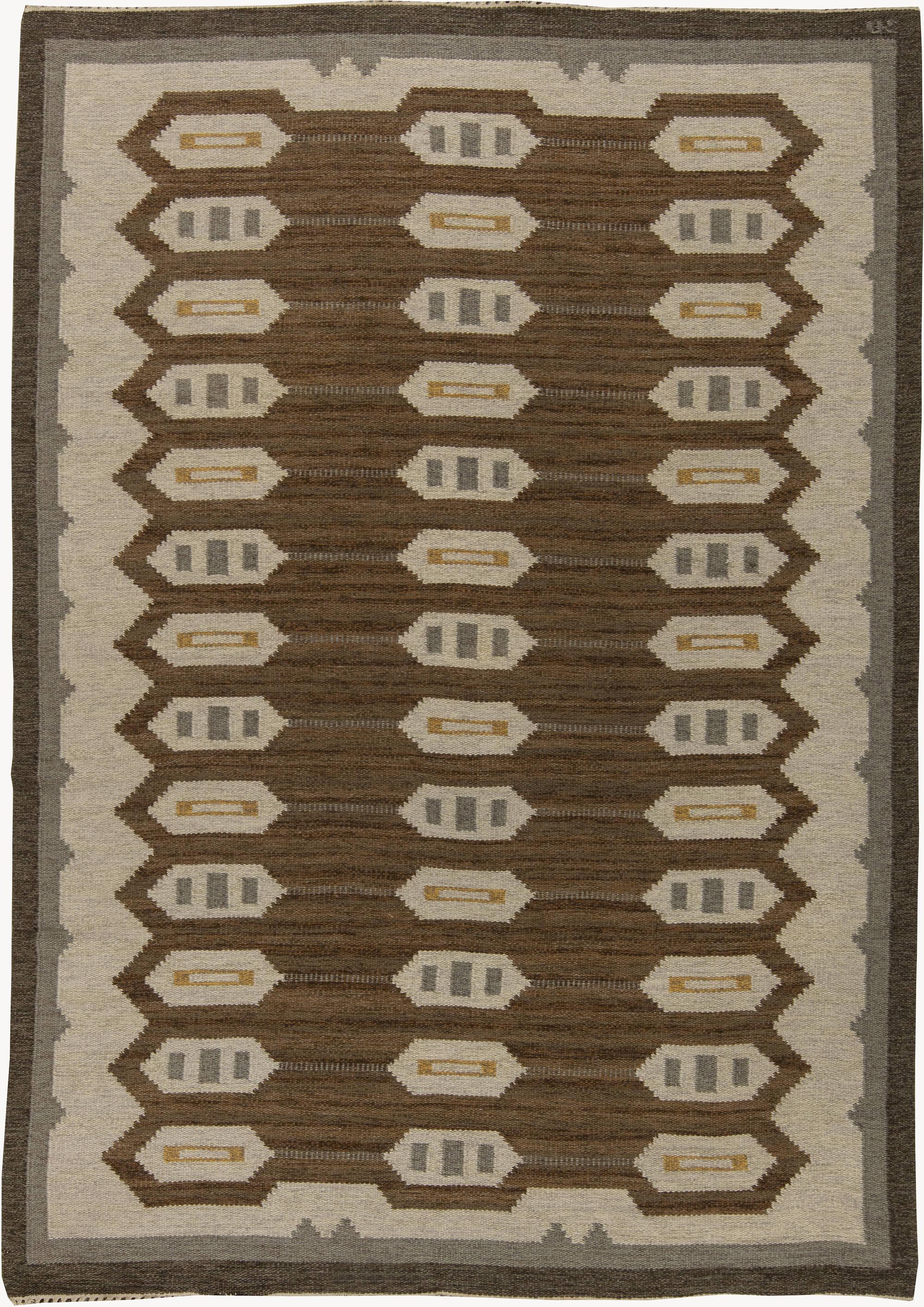 Vintage Swedish Flat Weave Rug BB6281