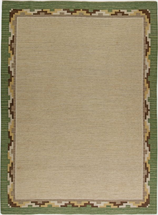 Vintage Swedish Flat Weave Rug BB6259