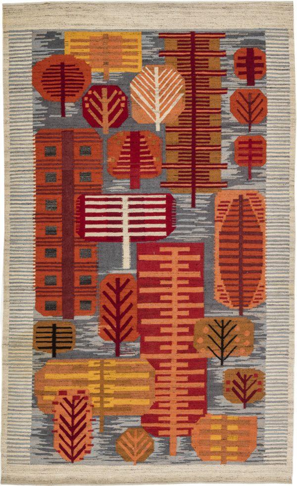 Vintage Swedish Flat Weave Rug BB6287