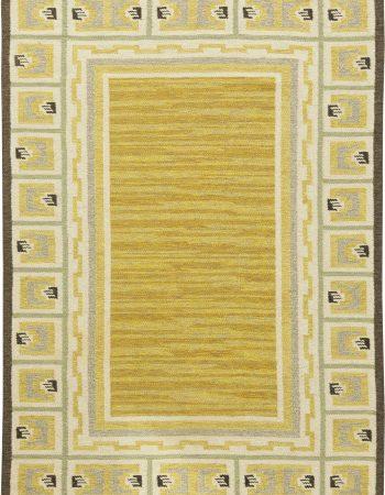 Vintage Swedish Flat weave Rug BB6156