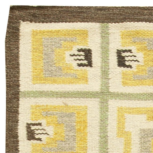 Vintage Swedish Flat weave Rug BB6156