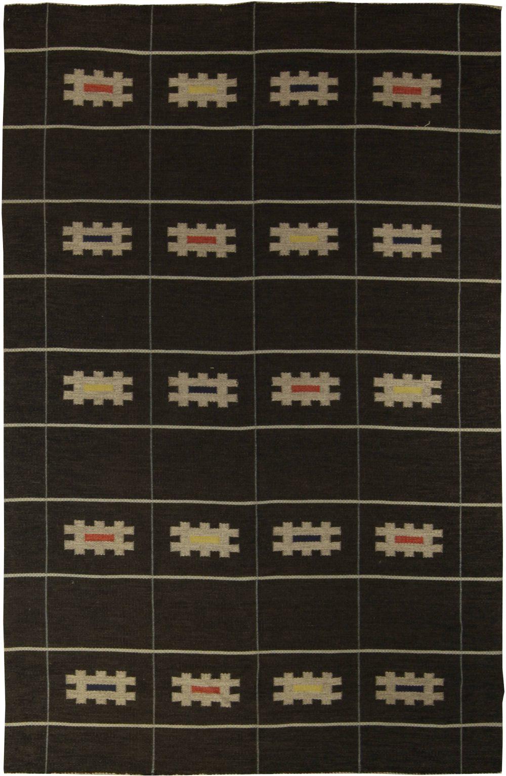 Vintage Swedish Flat Weave Rug BB4983