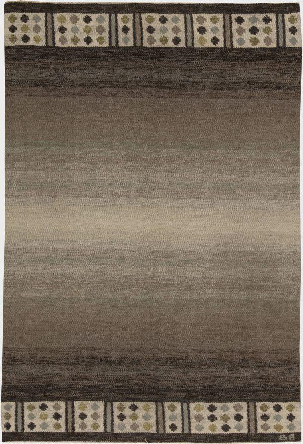 Vintage-schwedische Flachgewebe Teppich unterzeichnet (BA) BB6232