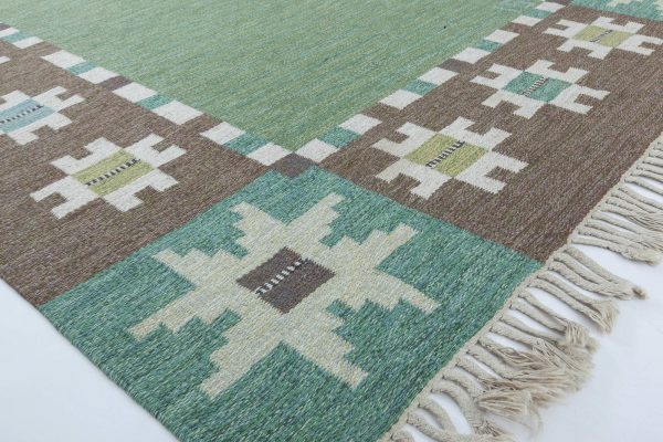 Swedish Flat Weave Rug by Ingegerd Silow BB6313