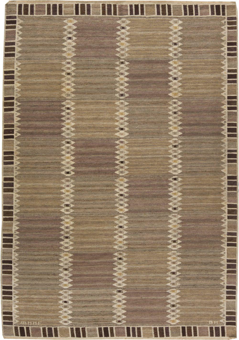 Vintage Swedish Flat Weave Rug by Marta Maas-Fjetterstrom BB6292